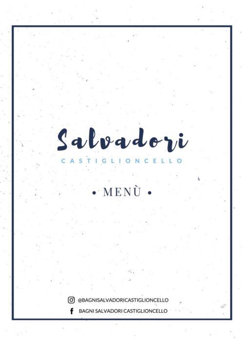 Menù bagni Salvadori
